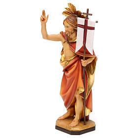 Risurrezione di Cristo con raggiera legno Valgardena s3
