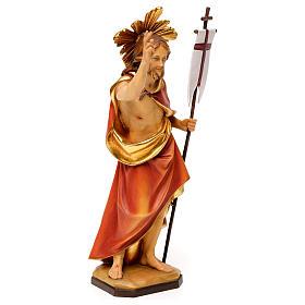 Risurrezione di Cristo con raggiera legno Valgardena s4