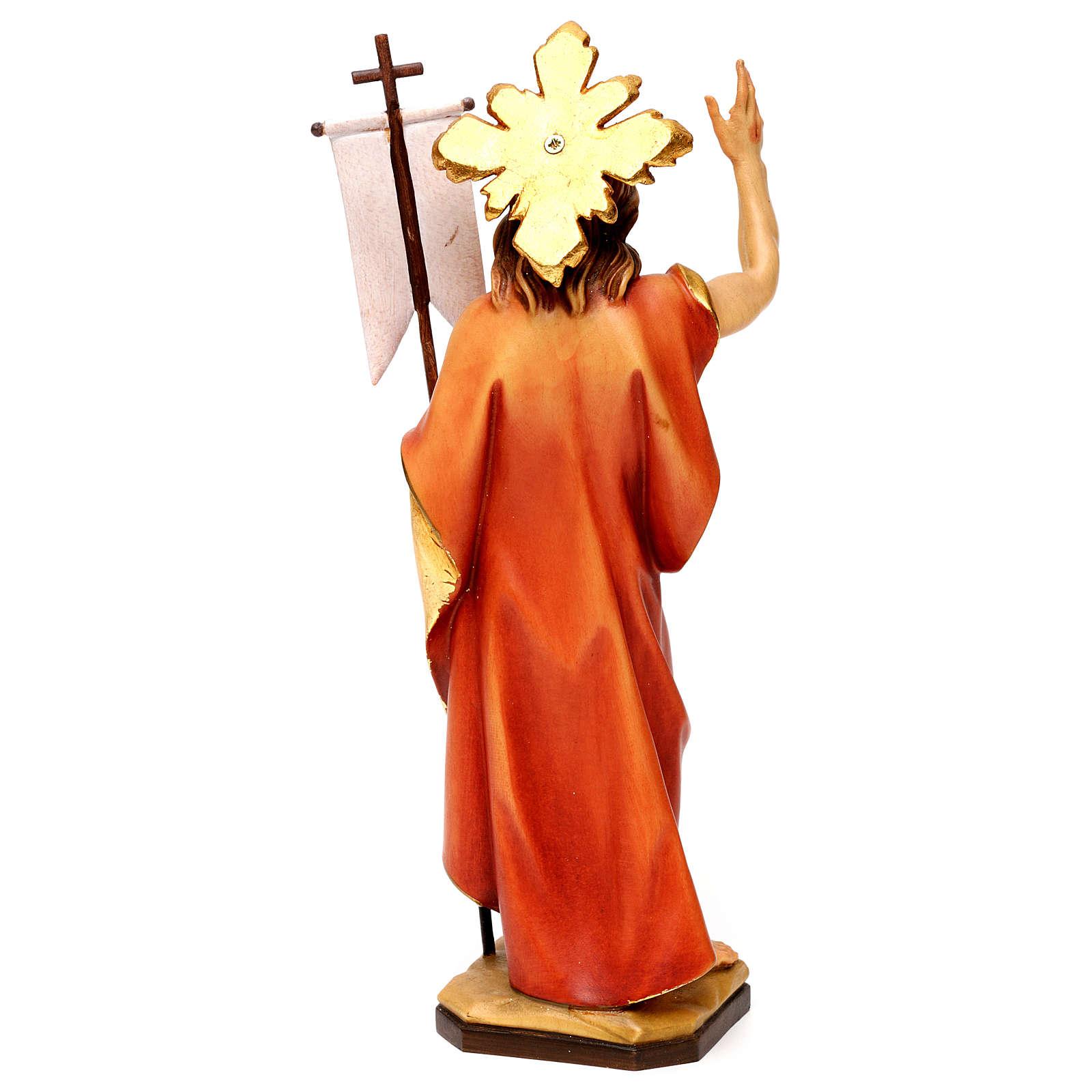 Resurrection Christ with rays in Valgardena wood 4