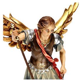 Święty Michał Archanioł z wagą drewno Valgardena s2