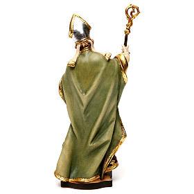San Patricio de Irlanda con trébol madera Val Gardena s5