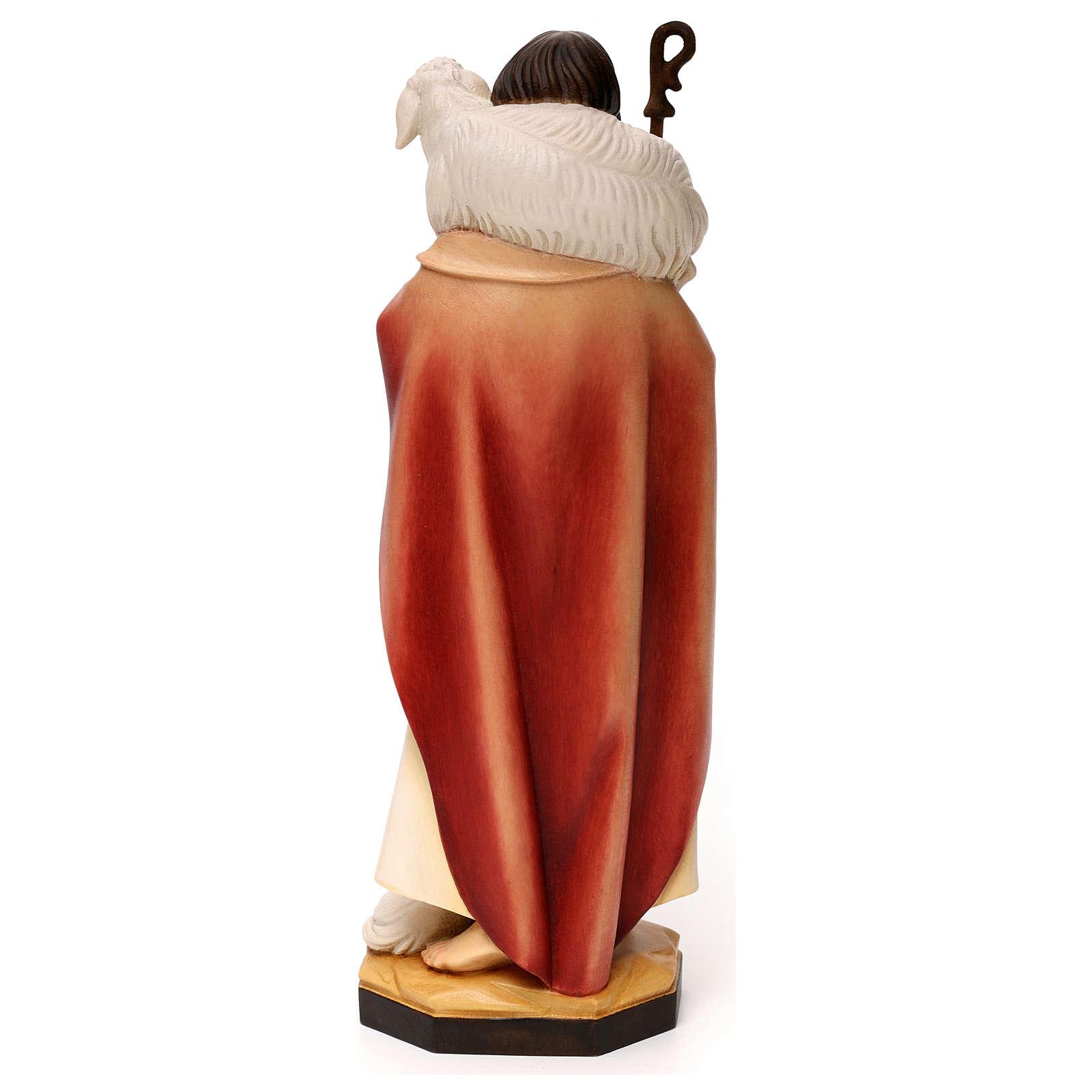 Gesù il buon pastore legno Valgardena 4