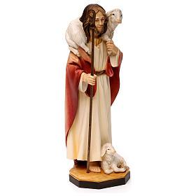 Gesù il buon pastore legno Valgardena s4