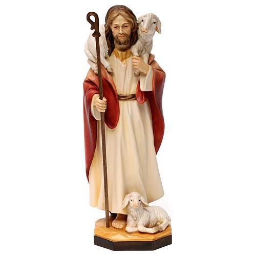 Gesù il buon pastore legno Valgardena 1