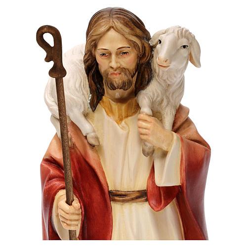 Gesù il buon pastore legno Valgardena 2