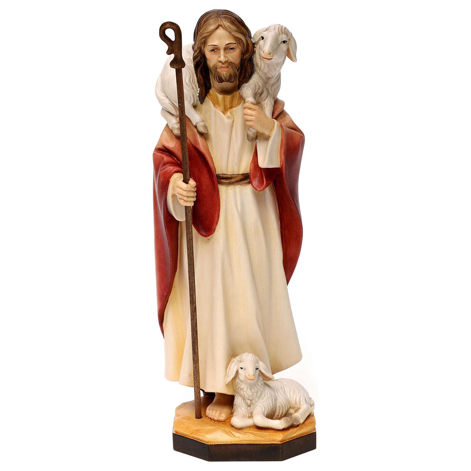 Jesus the Good Shepherd statue, in Valgardena wood 4