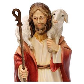 Jesus the Good Shepherd statue, in Valgardena wood s2
