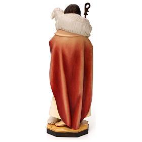 Jesus the Good Shepherd statue, in Valgardena wood s5