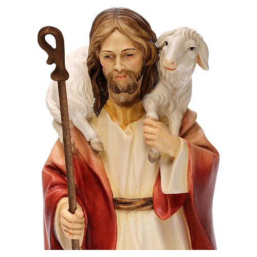 Jesus the Good Shepherd statue, in Valgardena wood 2