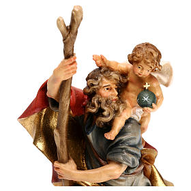 San Cristoforo con bambino legno Valgardena s2