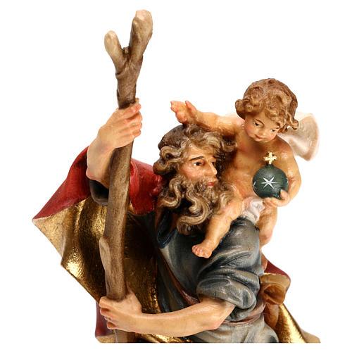 San Cristoforo con bambino legno Valgardena 2