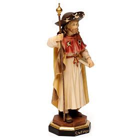 St. James the pilgrim statue in wood, Val Gardena s3