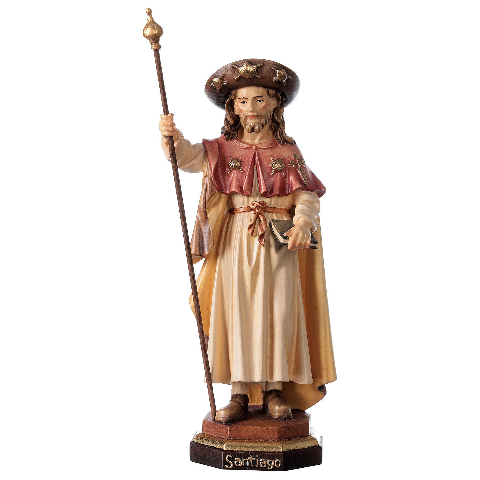 San Giacomo il pellegrino legno Valgardena 4
