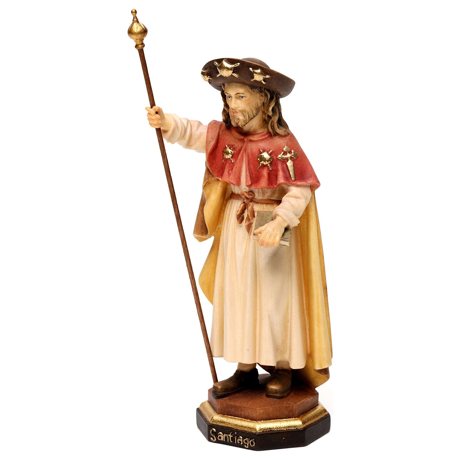 Saint James The Greater statue, in Valgardena wood 4
