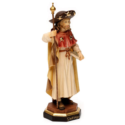 Saint James The Greater statue, in Valgardena wood 3