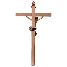Crucifijo Barroco cruz recta azul madera Val Gardena s5