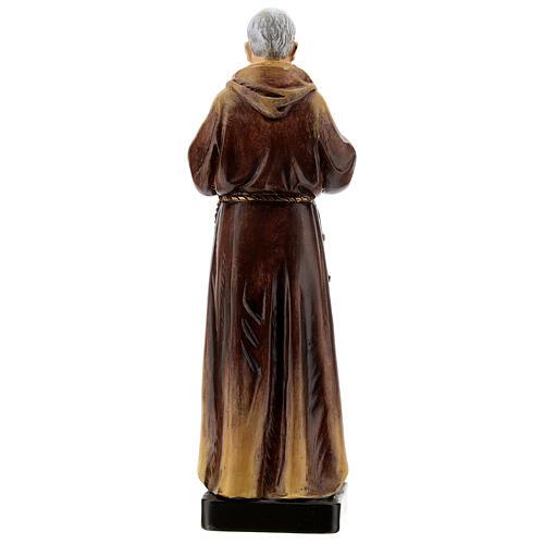 Estatua S. Pio de Pietrelcina madera pintada 20 cm Val Gardena 5