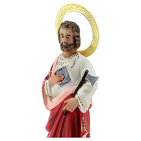 St Jude wood pulp statue 20 cm, elegant finish s2