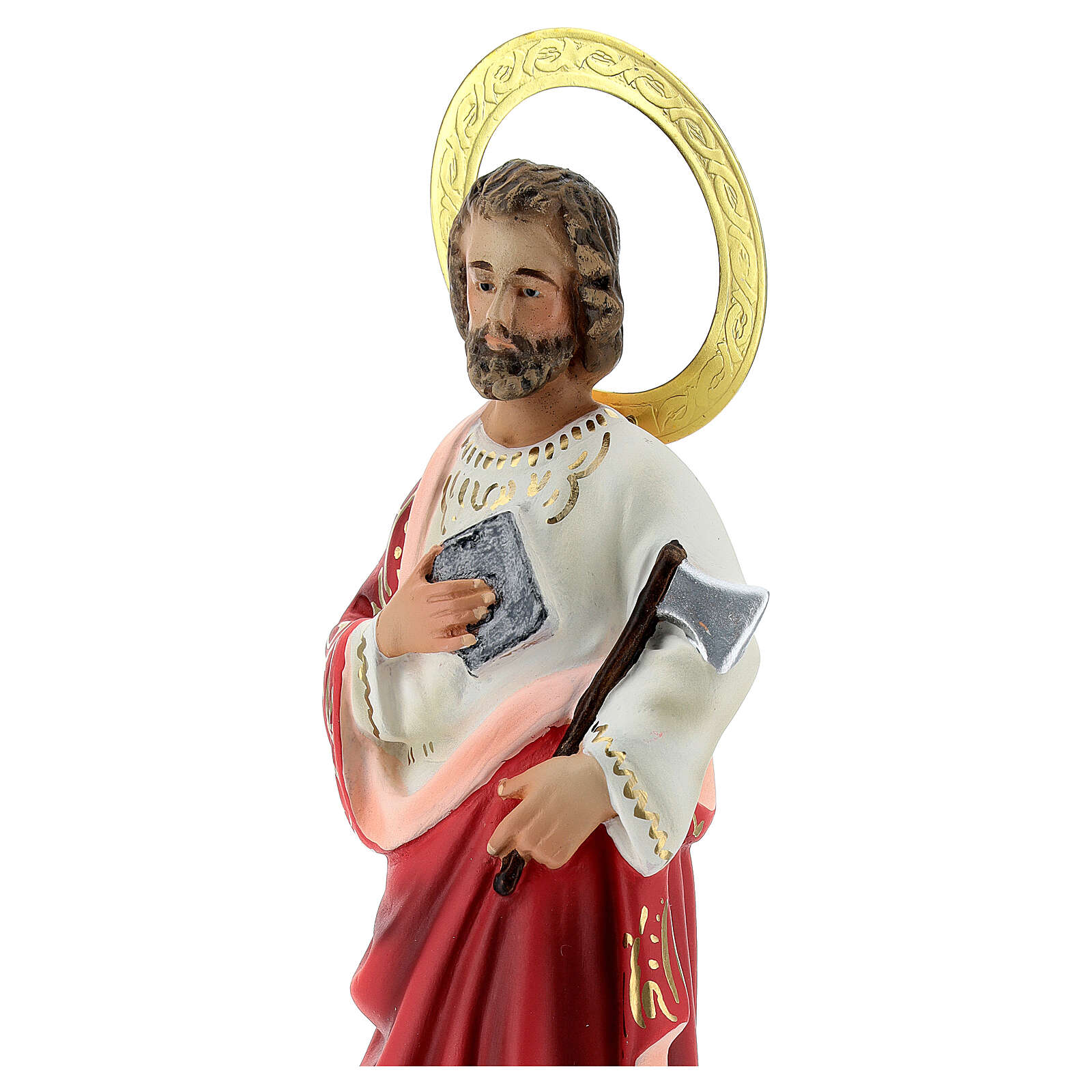 St Judas wood pulp statue 20 cm, elegant finish 4