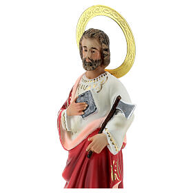 St Judas wood pulp statue 20 cm, elegant finish s2