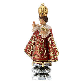 Infant Jesus of Prague statue, painted Valgardena wood, 8 cm s2