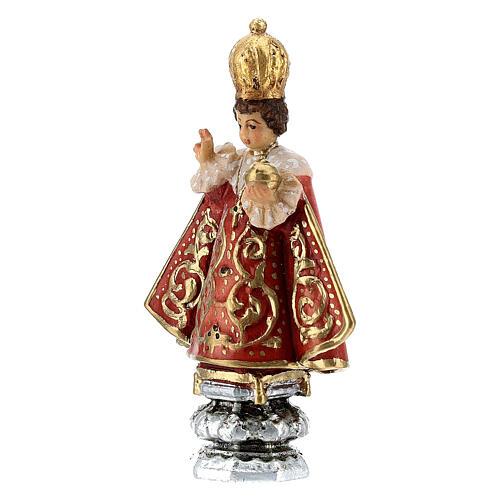 Enfant Jésus de Prague Val Gardena peint 8 cm 2