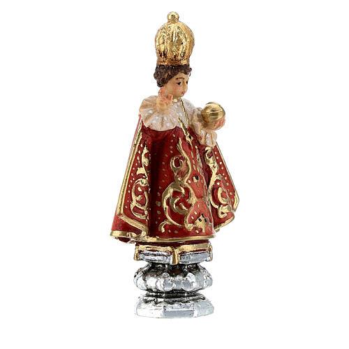 Enfant Jésus de Prague Val Gardena peint 8 cm 3
