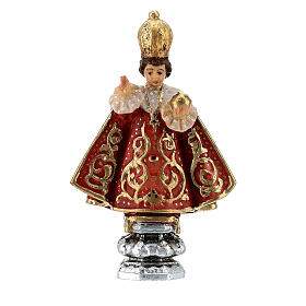 Infant of Prague statue in painted Valgardena wood, 8 cm s1