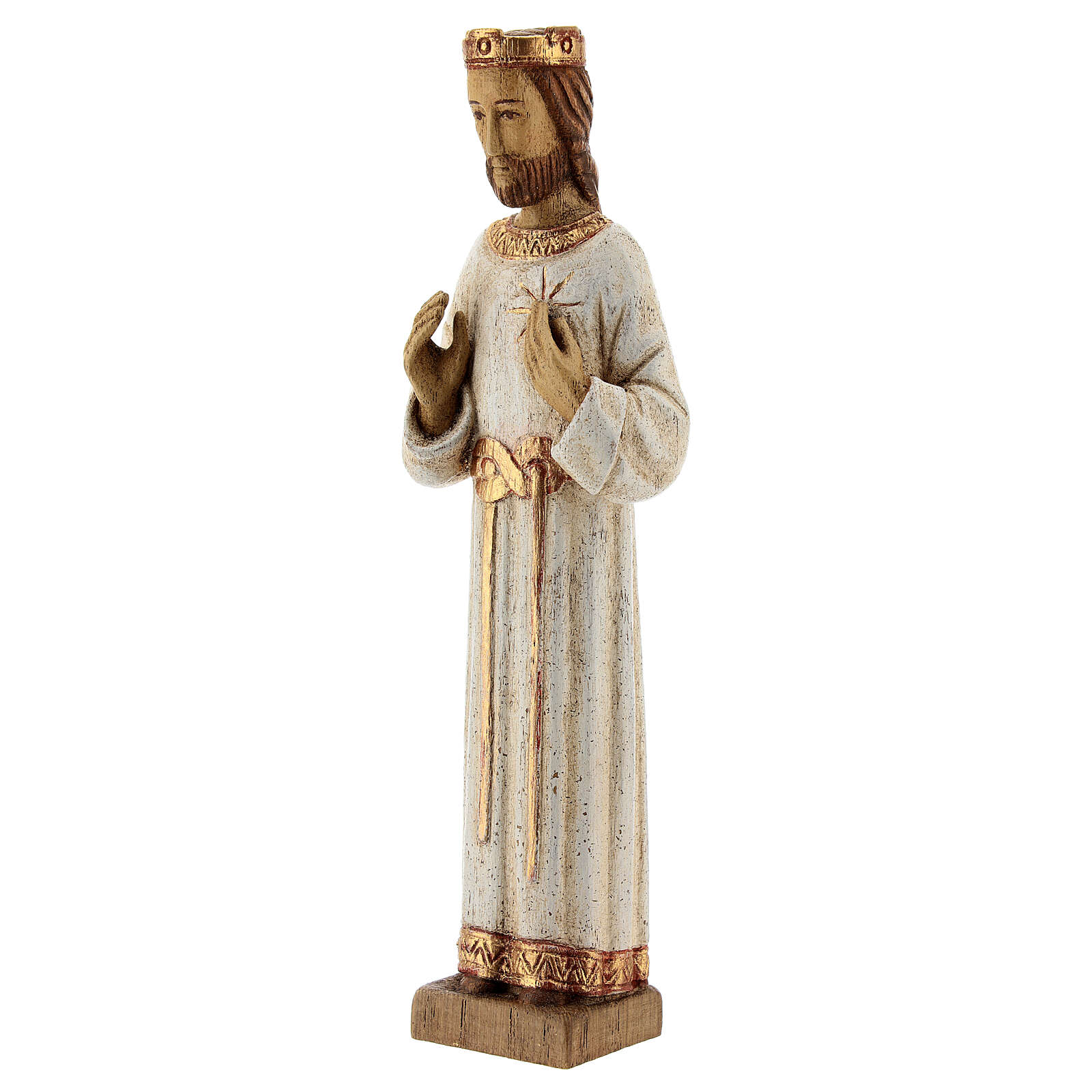Holy Heart of Jesus statue with white robes 20 cm Bethleem nuns 4