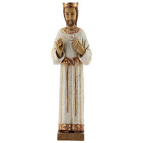 Holy Heart of Jesus statue with white robes 20 cm Bethleem nuns s1