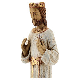Holy Heart of Jesus statue with white robes 20 cm Bethleem nuns s2