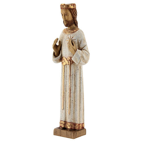 Holy Heart of Jesus statue with white robes 20 cm Bethleem nuns 3