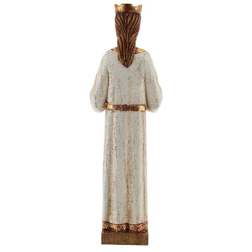 Holy Heart of Jesus statue with white robes 20 cm Bethleem nuns 5