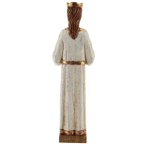 Sagrado Corazón de Jesús Bethléem vestido blanco 20 cm 5