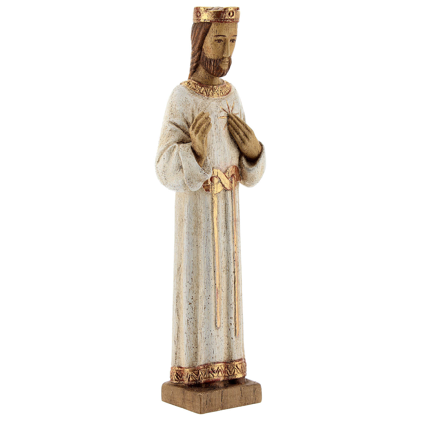 Sacré-Coeur de Jésus Bethléem robe blanche 20 cm 4