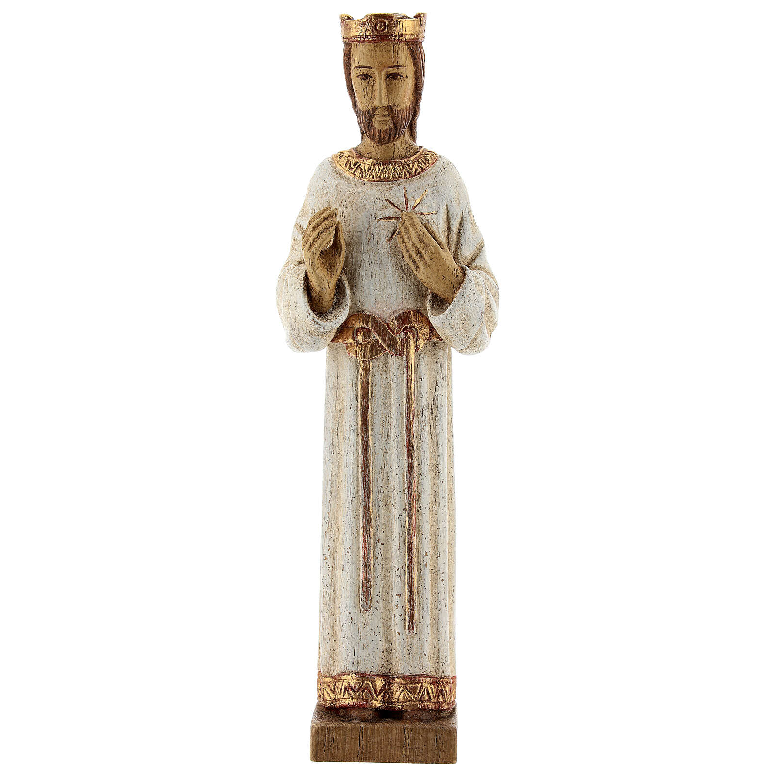 Sacro Cuore di Gesù Bethléem veste bianca 20 cm 4