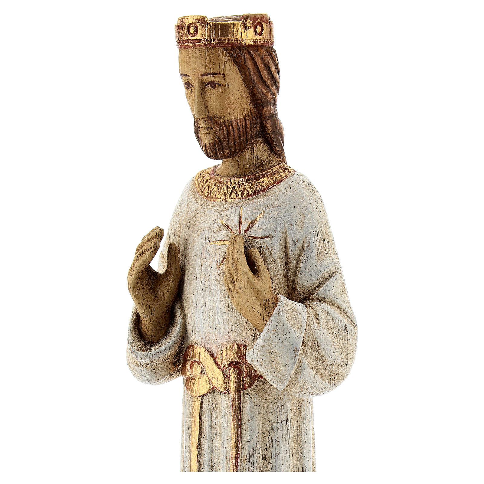 Sacred Heart of Jesus Bethléem white robes, 20 cm 4