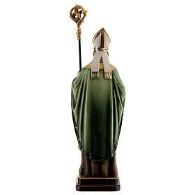 San Patricio con bastón madera coloreada Val Gardena s5