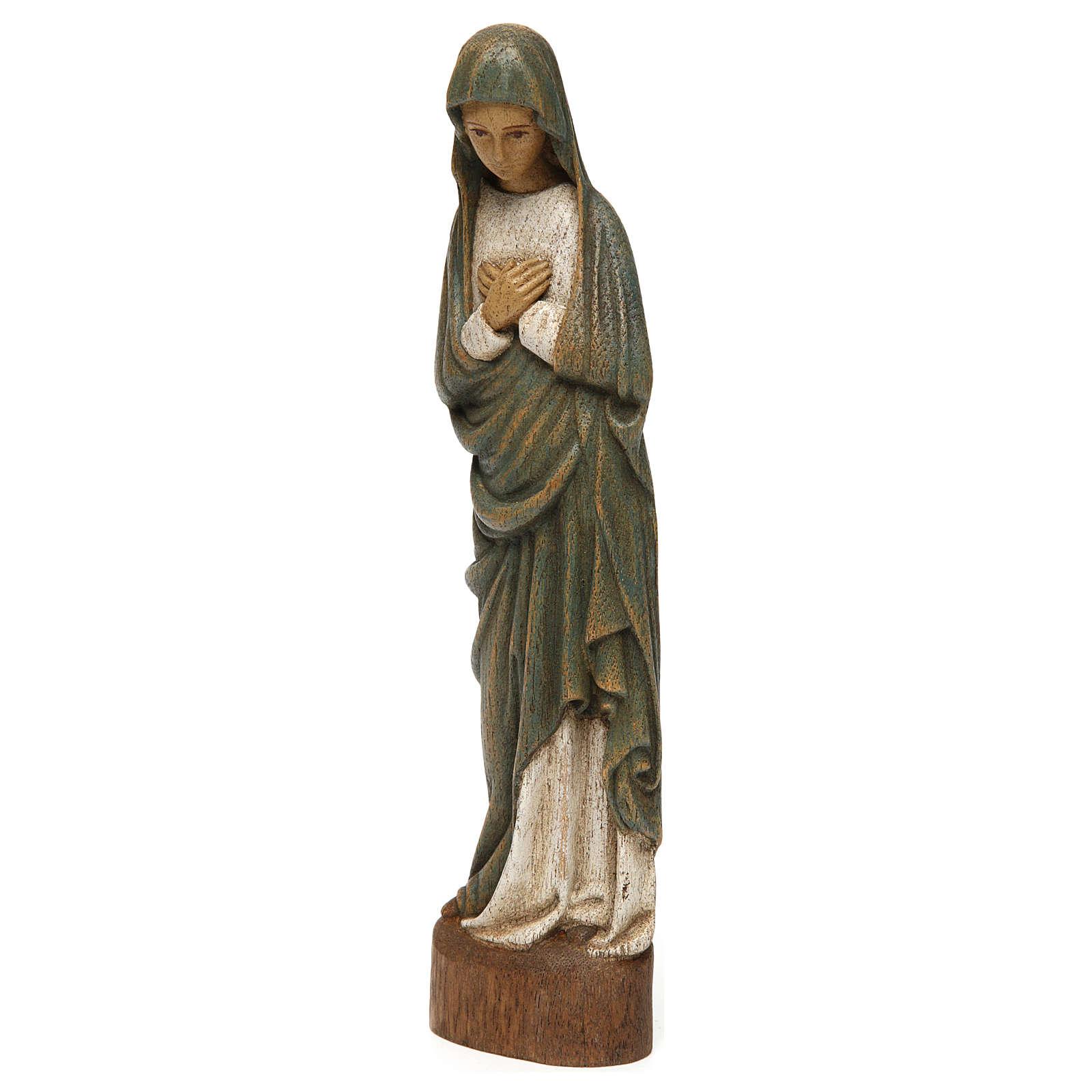 Statua Vergine dell'Annunciazione 25 cm legno Bethléem 4