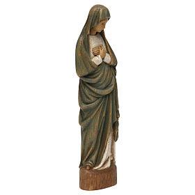 Statua Vergine dell'Annunciazione 25 cm legno Bethléem s4
