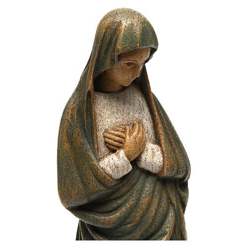 Statua Vergine dell'Annunciazione 25 cm legno Bethléem 2