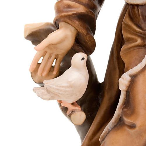 Saint François d'Assise avec colombes, statue bois