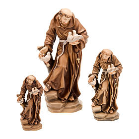 Hand painted wooden statues: Saint Francis of Assisi