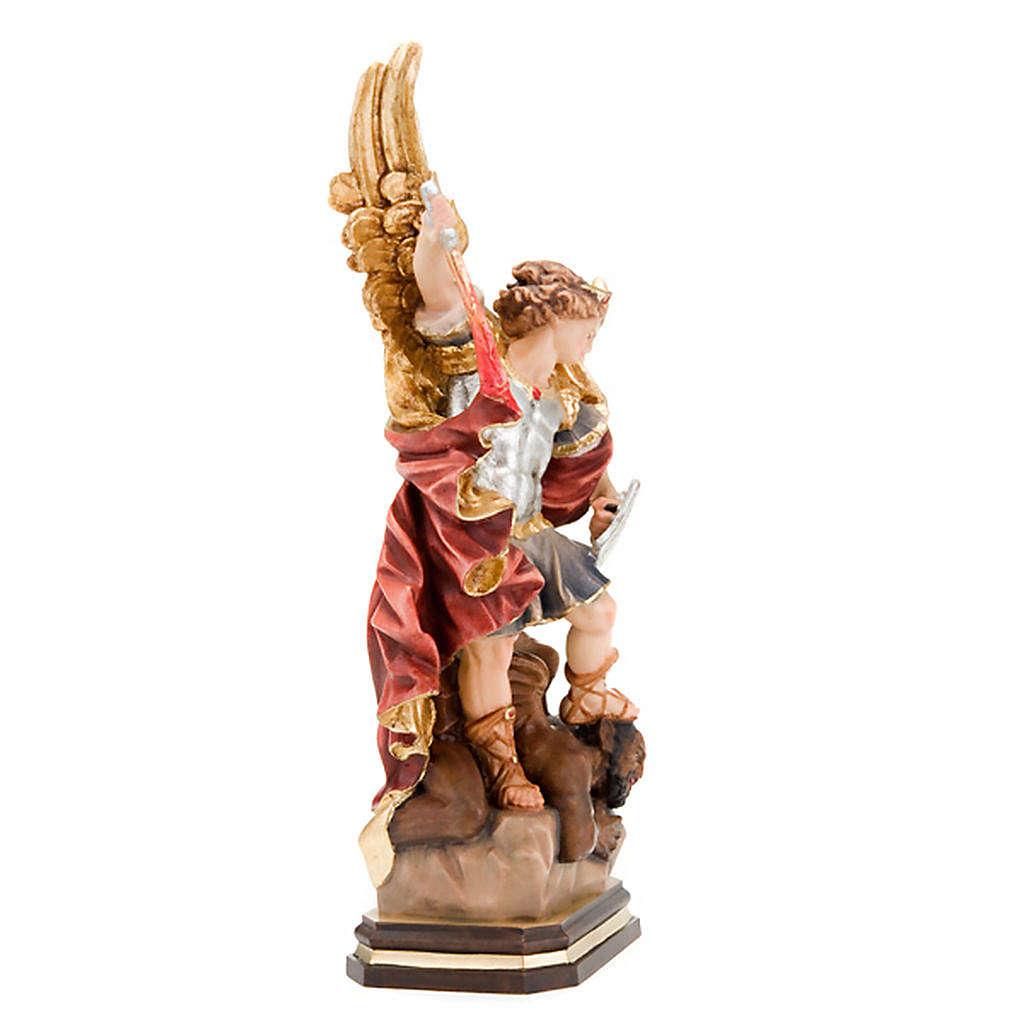 Saint Michael Archangel wooden statue 4