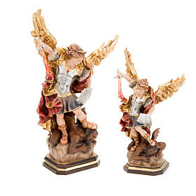 Hand painted wooden statues: Saint Michael Archangel wooden statue