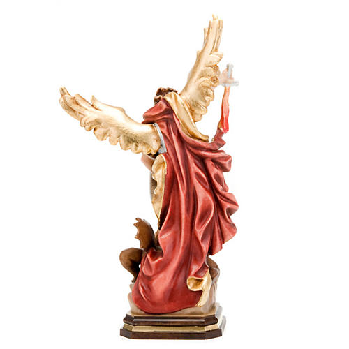 Saint Michael Archangel wooden statue 2