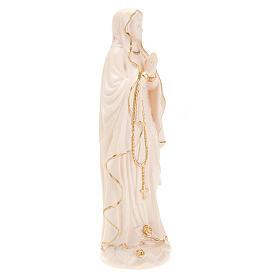 Vierge de Lourdes bois naturel 20cm s2