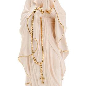 Vierge de Lourdes bois naturel 20cm s3