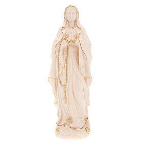 Vierge de Lourdes bois naturel 20cm s5