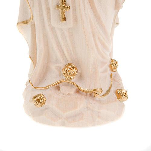 Vierge de Lourdes bois naturel 20cm 4